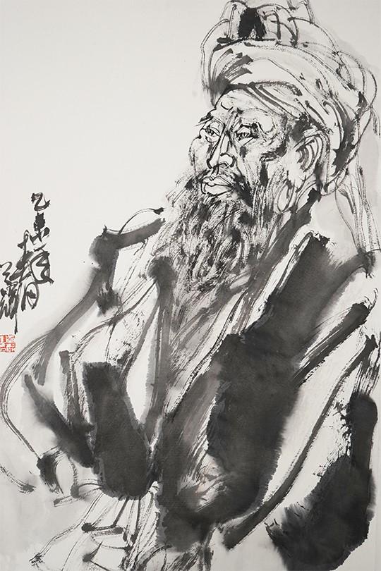 放笔入画粗犷洗练、精琢致微生动传神——画家王首麟