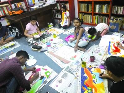 """孟加拉国青少年描绘""""我心中的中国"""""""