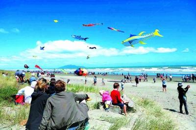 新西兰奥塔基国际风筝节上的中国风景