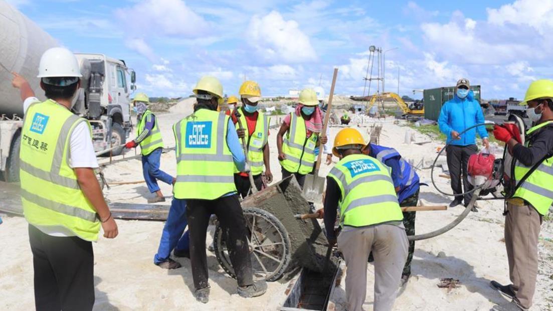 中企助力建设马尔代夫抗疫设施
