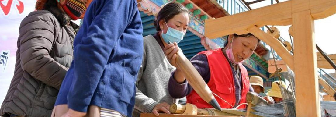 西藏贡嘎:手艺脱贫赛技能