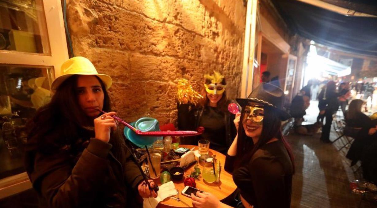 黎巴嫩民众喜迎新年