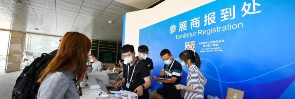 第五届中阿博览会布展工作紧张进行